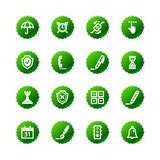 Green sticker software icons Stock Photos