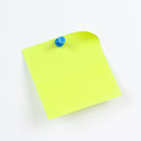 Green sticker on white board from notice Royalty Free Stock Image