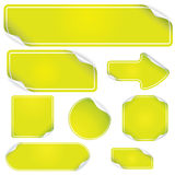 Green Stickers Set Stock Photos