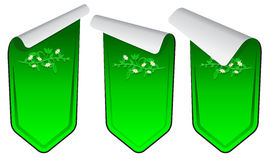 Green stickers set Stock Image