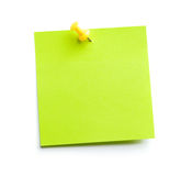 Green sticky note Royalty Free Stock Image