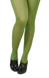 Green stockings. The lady in green stockings Royalty Free Stock Image