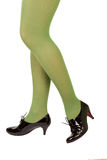 Green stockings. The lady in green stockings Stock Image