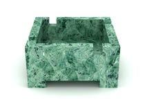 Green stone ashtray Royalty Free Stock Photos