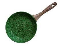Frying Pan - green royalty free stock photography