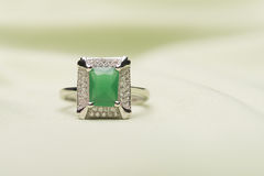 Green stone ring Royalty Free Stock Photos