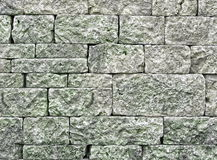 Green stone wall Royalty Free Stock Images