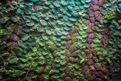 Green stone wall Royalty Free Stock Photos