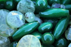 Green stones Stock Photos