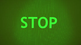 Green Stop sign. A green stop sign background Stock Photo