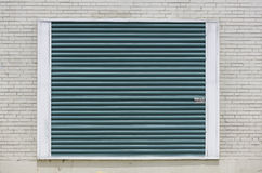 Green storage unit door background Royalty Free Stock Image