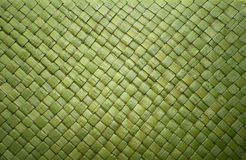 Green Straw Weave. A background of green straws woven together into a canvas Royalty Free Stock Photography