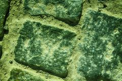 Green Street pavement background, rock texture Stock Photo