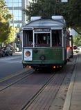 Green streetcar Stock Photo