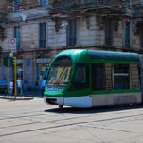 Green Streetcar Royalty Free Stock Images