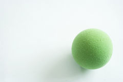Green Stress Ball  on White Royalty Free Stock Image