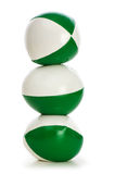 Green stress balls isolated Stock Photo