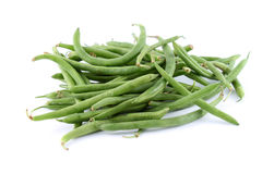 Green string beans. Healthy and organic green string beans on a white background (not isolated Royalty Free Stock Images