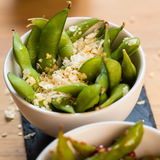 Green string beans chinese dish with spices Royalty Free Stock Images