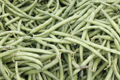 Green String Beans Display Royalty Free Stock Photography