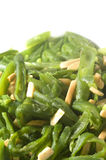 Green string beans French cut almond slivers Stock Photo