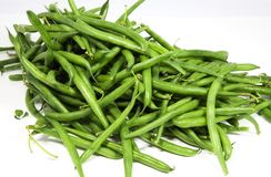 Green String Beans. Fresh green string beans. Isolated stock photo