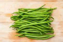 Green string beans ready for the pot Royalty Free Stock Photos