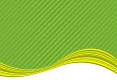Green stripe background and curve Royalty Free Stock Image