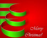 Green stripe christmas vector tree. Eps10 illustration royalty free illustration