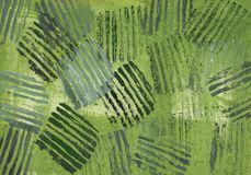 Green striped background abstraction. Green abstract painting. Gray-green watercolor stripes on a green background royalty free illustration