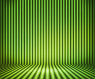 Green Striped Background Show Room Royalty Free Stock Images