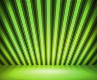 Green Striped Background Show Room Royalty Free Stock Image
