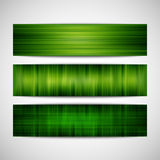 Green striped banners Stock Images
