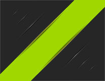Green Striped on Black Trace Stock Images