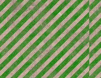 Green striped caution sign Stock Photos