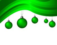 Green striped christmas background royalty free stock image
