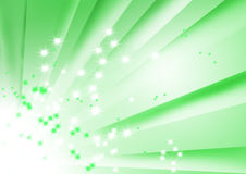 Green striped design with bursting stars. Green striped design with a burst and stars Stock Photo