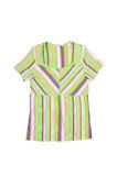 Green striped dress. Royalty Free Stock Photos