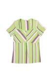 Green striped dress. Royalty Free Stock Photos