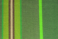 Green striped fabric texture Royalty Free Stock Images