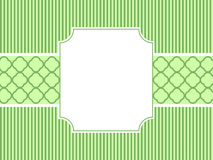 Green Striped Frame Royalty Free Stock Photos