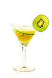 Green striped glass of fresh kiwi juice Royalty Free Stock Photo