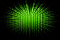 Green striped rays Royalty Free Stock Photo