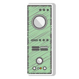 Green striped remote controller with buttons Stock Image