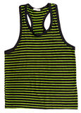Green striped shirt Stock Photo