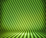 Green Striped Show Room Royalty Free Stock Photography