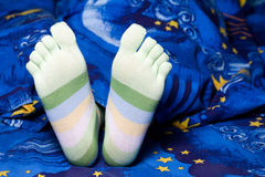 Green striped socks Royalty Free Stock Photography