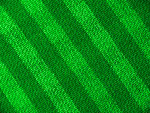 Green striped textile. Close up Stock Photography
