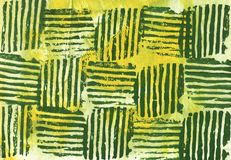 Yellow green striped squares. Green stripes on a yellow background royalty free illustration