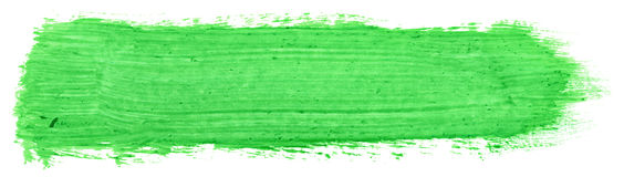 Green stroke of gouache Royalty Free Stock Image